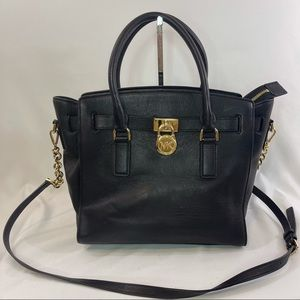 Michael Kors Black Hamilton Traveler bag